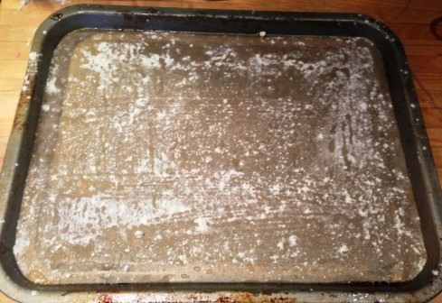 greased lined floured sugared baking tin for swiss roll no special pan needed