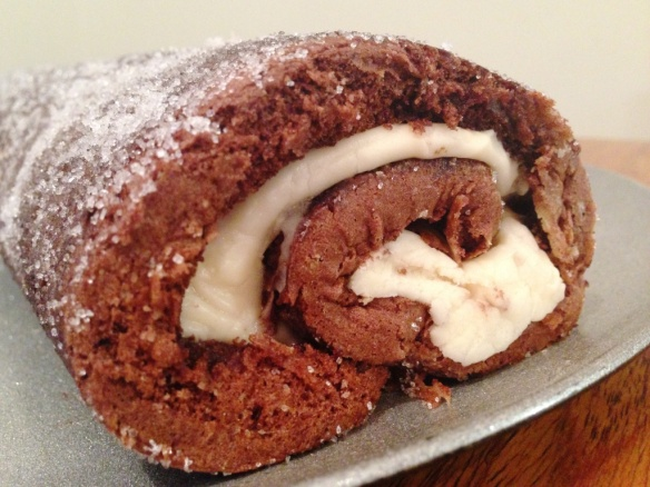 chocolate swiss roll with baileys buttercream filling recipe method easy stand mixer oozing filling easy impressive dessert