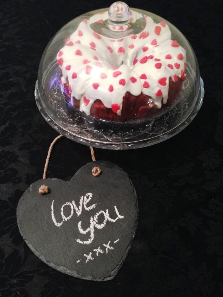 Valentine s Day Hidden Heart Design Red Velvet Bundt Cake ...