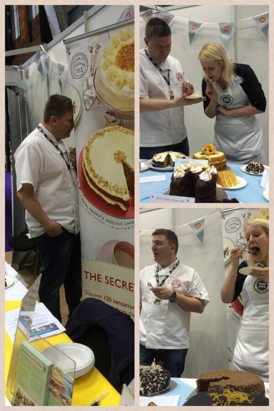 clandestine cake club taste on the table competition judging with peter sidwell britains best bakery