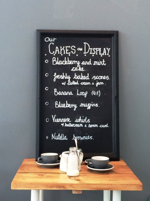 hand written blackboard menu personal touch tea room nottingham the pudding pantry