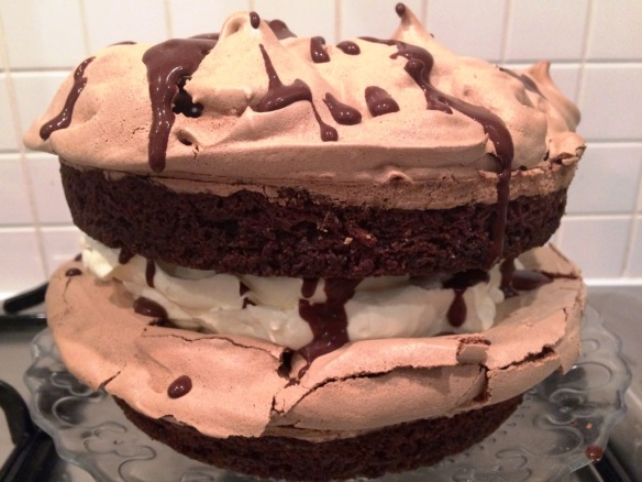 mocha meringue cake gluten free dessert recipe and method brownie cake