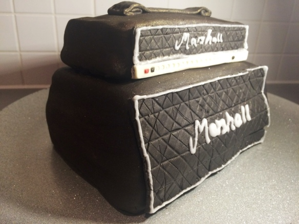 marshall amp stack black and white music lover birthday cake homemade