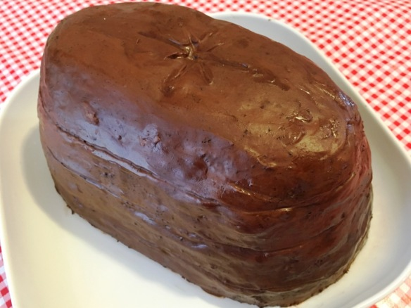 giant creme egg cake recipe and method for layer chocolate madeira fondant filling and cadbury dairy milk icing